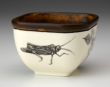 Small Square Bowl: Grasshopper