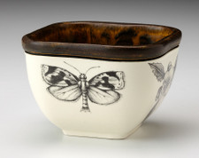 Small Square Bowl: Oak Moth