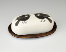 Butter Dish: Red-Winged Blackbird