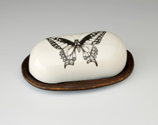Butter Dish: Swallowtail Butterfly