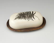 Butter Dish: Wood Fern