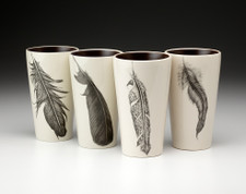 Set of 4 Tumblers: Feathers