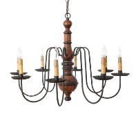 Katie's Hamilton Chandelier Finished In Michael's Cherry With Black Trim