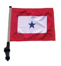 Blue Star 11x15 inch Golf Cart Flag with Pole