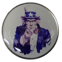BELLA Sun Golf Ball Marker & Hat Clip - Uncle Sam