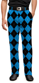 Loudmouth Golf Mens Pants - Black & Blue