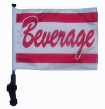 Beverage 11x15 inch Golf Cart Flag with Pole