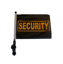 SECURITY 11x15 inch Golf Cart Flag with Pole