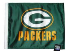 NFL Green Bay Packers 11in x 15in Golf Cart or Car Flag