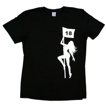 Pole Dancer - Naked Lady Black Golf Tee Shirt by ReadyGolf
