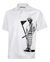 Tattoo Golf: Mens Polo Golf Shirt - Mr. Bones