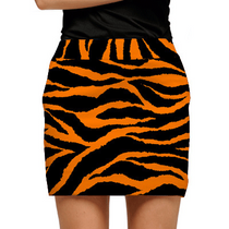 Loudmouth Golf Womens Skort - Orange & Black Tiger Stripes