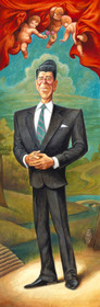 """David O'Keefe: The Gripper - A Tribute to Ronald Reagan 8""""x24"""""""
