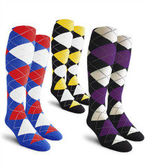 Golf Knickers Ladies Over-The-Calf Argyle Socks