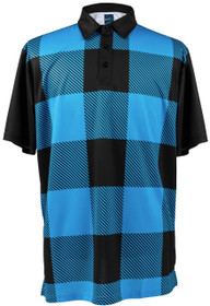 ReadyGOLF Mens Golf Polo Shirt - Lumberjack Blue