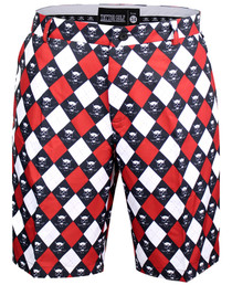 Tattoo Golf: Mens Golf Shorts - ProCool Argyle Monster