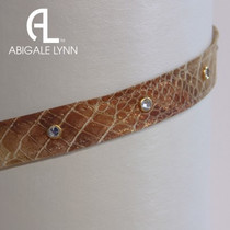 Abigale Lynn Visor Band - Cracked Metallic Snake