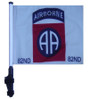 82nd Airborne 11x15 inch Golf Cart Flag with Pole