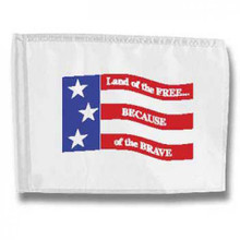Markers Inc - Backyard Golf Flag: Free & Brave Golf Flag #401