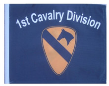 "Golf Cart Flags - 1ST CAVALRY DIVISION 11""x15"" Replacement Flag"