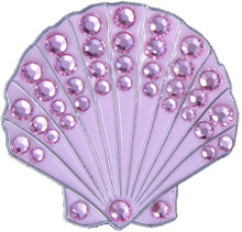 BELLA Swarovski Crystal Ball Marker & Hat Clip - SEA SHELL - Pink