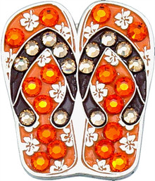 BELLA Swarovski Crystal Ball Marker & Hat Clip - FLIP FLOP - Orange