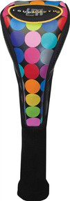 LoudMouth Golf Headcover Fairway Metal Cover - Disco Balls Black