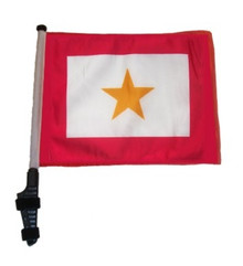 Gold Star 11x15 inch Golf Cart Flag with Pole