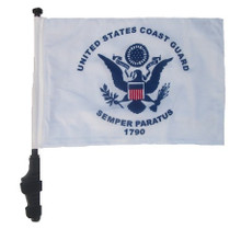 Coast Guard 11x15 inch Golf Cart Flag with Pole