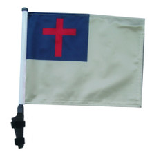 Christian 11x15 inch Golf Cart Flag with Pole