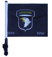 101st Airborne 11x15 inch Golf Cart Flag with Pole