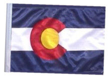 "Golf Cart Flags - COLORADO 11""x15"" Replacement Flag"