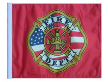 "Golf Cart Flags - FIRE DEPT 11""x15"" Replacement Flag"