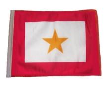 "Golf Cart Flags - GOLD STAR 11""x15"" Replacement Flag"