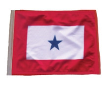 "Golf Cart Flags - BLUE STAR 11""x15"" Replacement Flag"