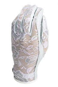 Evertan Women's Tan Through Golf Glove: Gilded Floral White