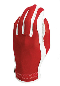Evertan Women's Tan Through Golf Glove: Red Hot