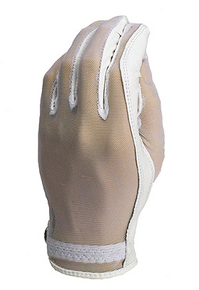 Evertan Women's Tan Through Golf Glove: White Pearl
