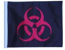 "Golf Cart Flags - BIOHAZARD RED 11""x15"" Replacement Flag"