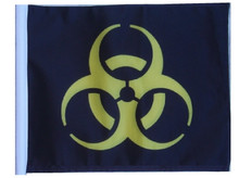 "Golf Cart Flags - BIOHAZARD YELLOW 11""x15"" Replacement Flag"