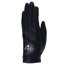 Glove It Golf Lycra Glove Solid Collection -  Black Clear Dot