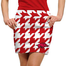 Loudmouth Golf Womens Skort - Arkansas Razorbacks Logoed Red Tooth