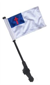 CHRISTIAN Small 6x9 inch Golf Cart Flag with EZ On/Off Pole Bracket