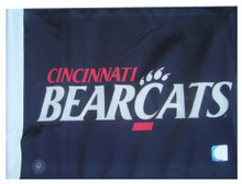Cincinnati BearCats 11in x 15in Golf Cart or Car Flag