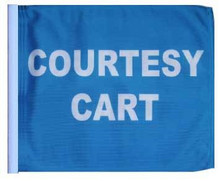 "Golf Cart Flags - COURTESY CART 11""x15"" Replacement Flag"