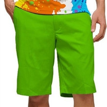 Loudmouth Golf Mens Shorts - Element Jasmine Green - SALE