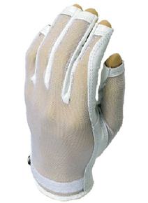 Evertan Women's Tan Through Three Quarter Golf Glove: Pearl White