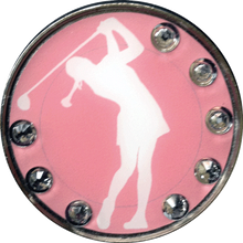BELLA Swarovski Crystal Exchange Ball Marker & Hat Clip - Lady Swing Clear
