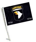 Car Flag with Pole - 101 AIRBORNE