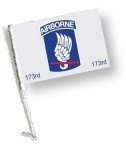 Car Flag with Pole - 173 AIRBORNE